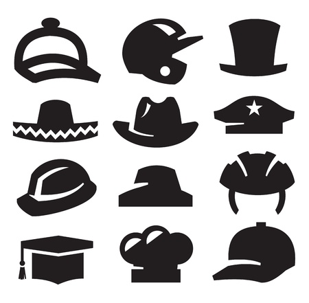 headwear: hat icons Illustration