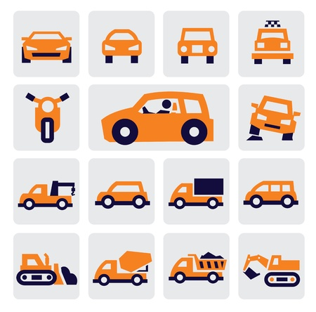 cars icons Stock Vector - 15733547