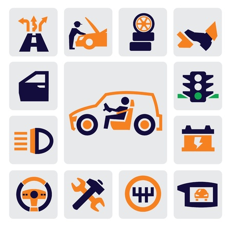 auto icons Stock Vector - 15733543
