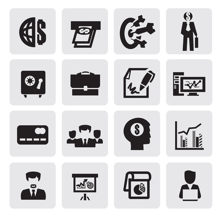 safe money: office and business icons