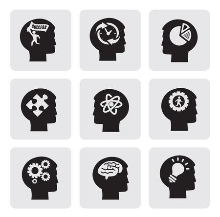 mente: Iconos de la cabeza