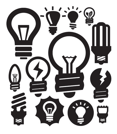 bulbs icons Stock Vector - 15893733