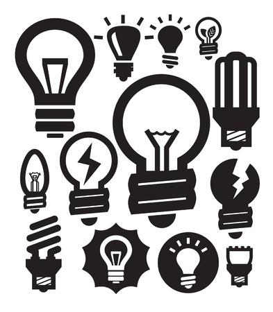 shining light: bulbs icons