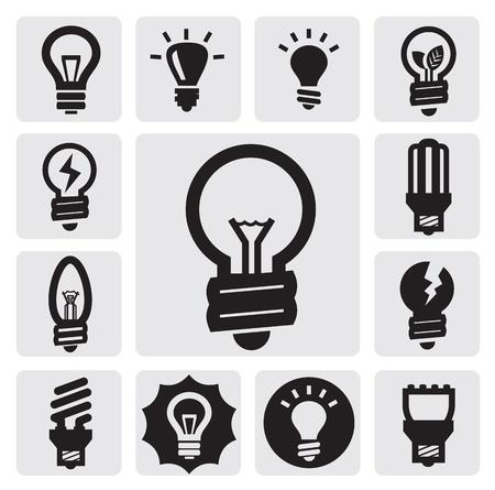 lightbulb idea: bulbi icone