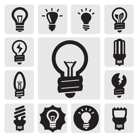 lightbulbs: bulbs icons