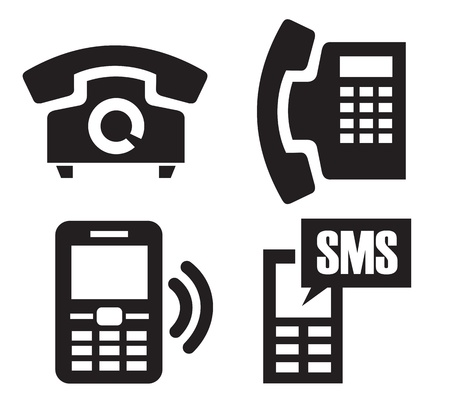 phone icons Stock Vector - 15893735