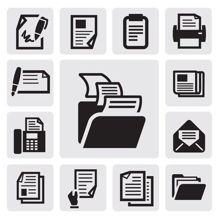 carpeta: icono de documento Vectores