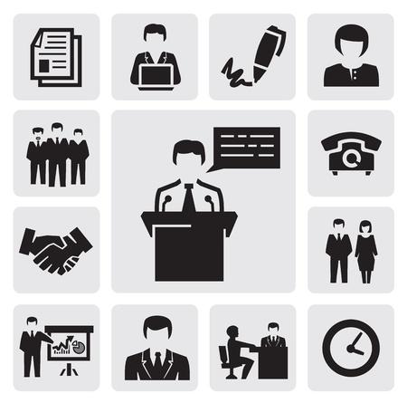 document management: bedrijfspictogram Stock Illustratie