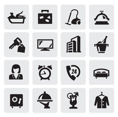 camarero: iconos de hotel
