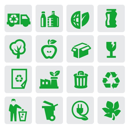 plastic recycling: eco energy icons