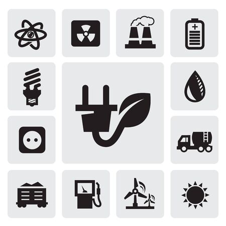 eco energy icons Stock Vector - 15893750