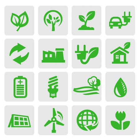 energy buttons: eco energy icons