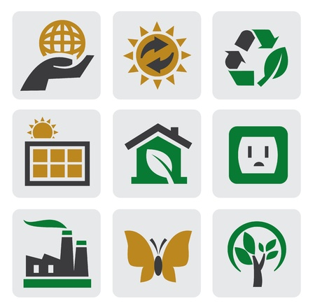 ecology energy icon Vector