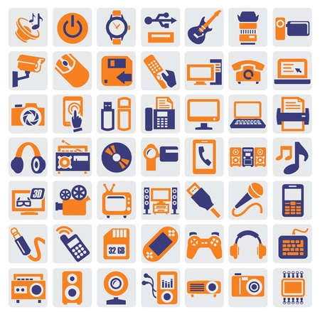 web cam: electronic devices icons