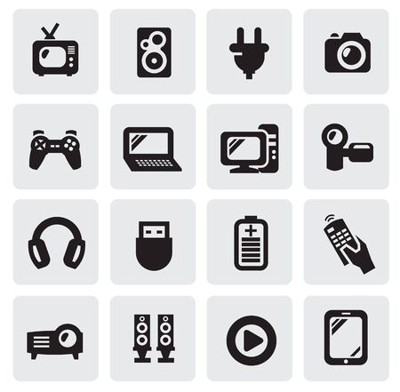 electronic devices icons Stock Vector - 15893758