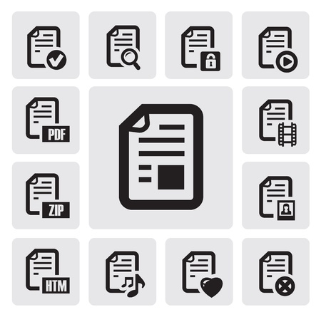 documents icons Stock Vector - 15963355