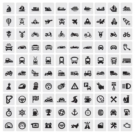 transportation: Icone di trasporto grandi