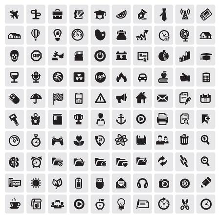 botones musica: 100 iconos web