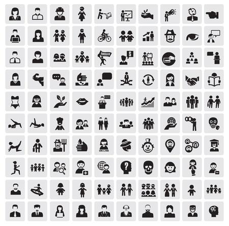 piktogram: Ludzie Ikony Ilustracja