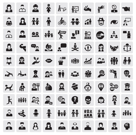 mensen pictogrammen Vector Illustratie