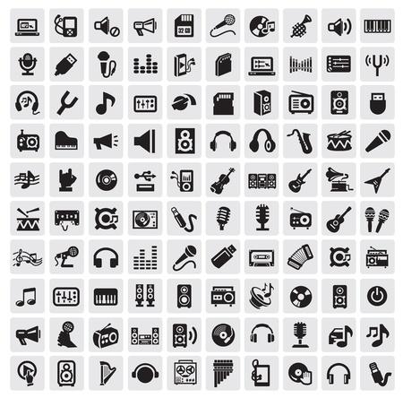 earbud: iconos de la m�sica Vectores