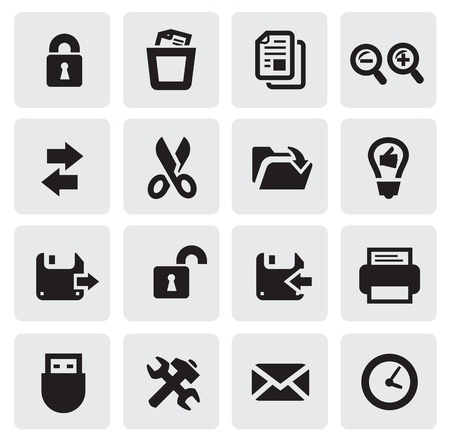 web icons Stock Vector - 16054939
