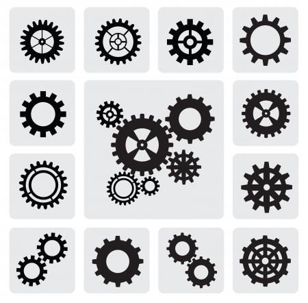 driven: gearwheel mechanism icon