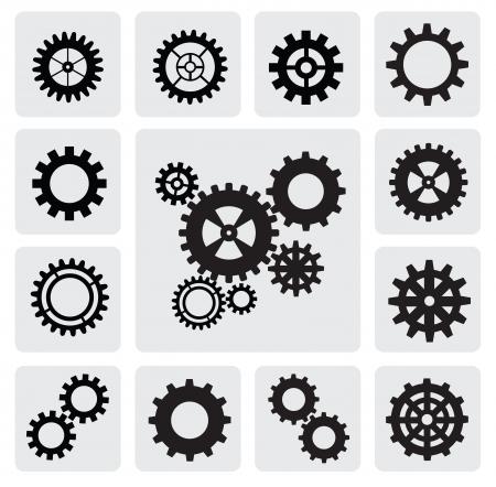 gearwheel: gearwheel mechanism icon