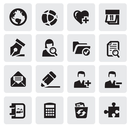 glass office: web icons