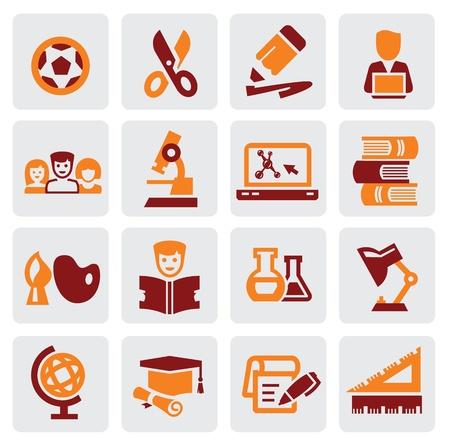 e book: education icons Illustration
