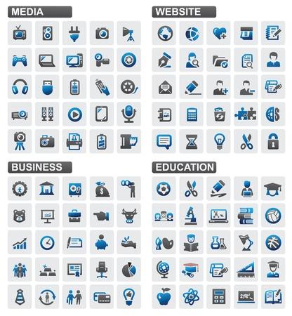 Business education website media Stock Vector - 16135454