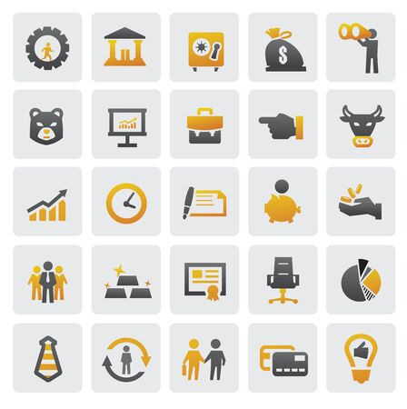finance director: business icons Illustration