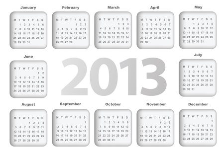 Calendar for 2013 Stock Vector - 16250226