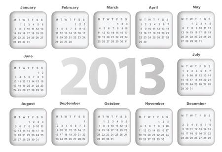 Calendar for 2013 Stock Vector - 16250226