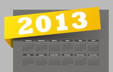 Calendar for 2013 Stock Vector - 16250227