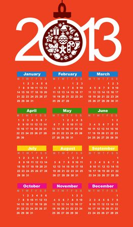 Calendar for 2013 Stock Vector - 16250237