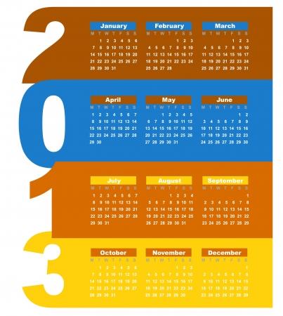 Calendar for 2013 Stock Vector - 16250225