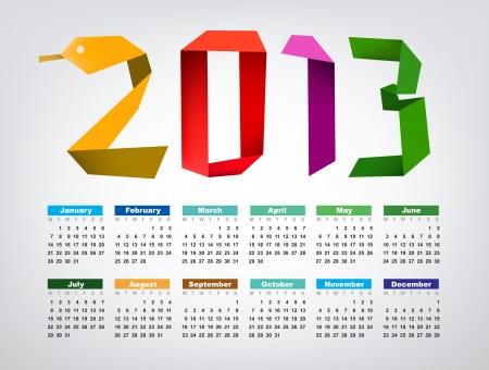Calendar for 2013 Stock Vector - 16250231