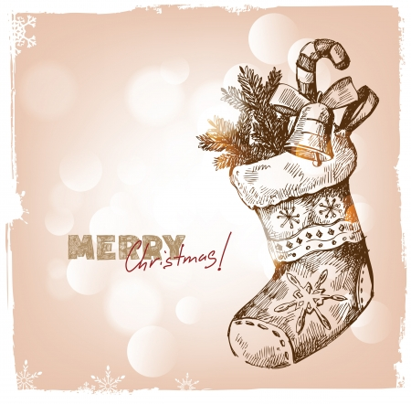hand drawn christmas and happy new year Stock Vector - 16250236