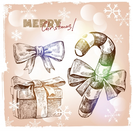 Christmas hand drawn illustration Vector