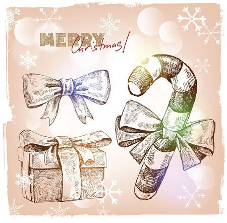 Christmas hand drawn illustration Stock Vector - 16300644