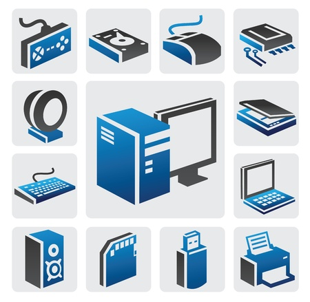 computer icon Stock Photo - 16359115