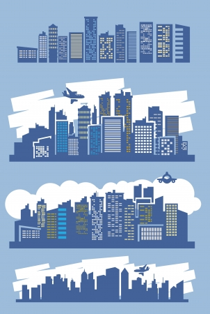 blue city Stock Vector - 16359143