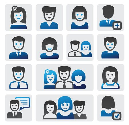 pictogram people: people icons Illustration
