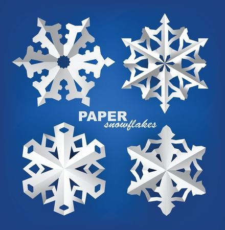 fiambres: copos de nieve de papel Vectores