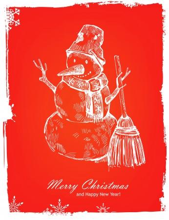 Christmas hand drawn illustration Vector