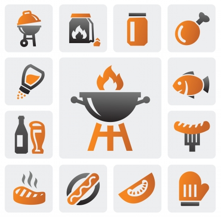 charcoal: barbecue icons