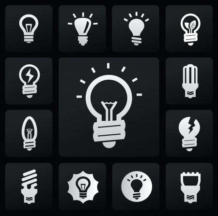 idea lamp: bulbs icons
