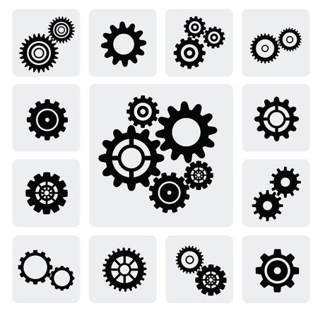 gearwheel icono mecanismo Ilustración de vector