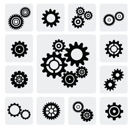 clock gears: gearwheel mechanism icon